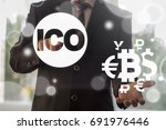 ico   initial coin offering... | Shutterstock . vector #691976446