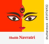 happy navratri festival  design ... | Shutterstock .eps vector #691976932