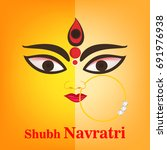 happy navratri festival  design ...   Shutterstock .eps vector #691976938