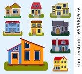 historical city modern world... | Shutterstock .eps vector #691980976