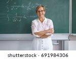 portrait of female senior... | Shutterstock . vector #691984306