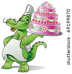 chef alligator has made a... | Shutterstock .eps vector #69199870