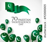 14th august. pakistan happy... | Shutterstock .eps vector #692000005