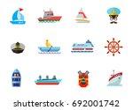 cruise icon set   Shutterstock .eps vector #692001742