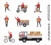 delivery of various vehicles... | Shutterstock .eps vector #692010226