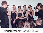 photographers paparazzi take... | Shutterstock . vector #692010262
