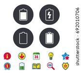 battery charging icons.... | Shutterstock .eps vector #692010706