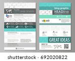 blog graphic business templates.... | Shutterstock .eps vector #692020822