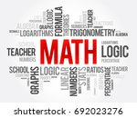 math word cloud collage ... | Shutterstock .eps vector #692023276