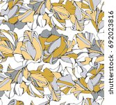 tropical seamless pattern with... | Shutterstock .eps vector #692023816