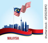 vector illustration of malaysia ... | Shutterstock .eps vector #692025892