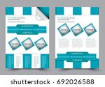 blue flyer vector design... | Shutterstock .eps vector #692026588