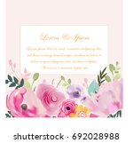 vintage beautiful purple pink... | Shutterstock .eps vector #692028988