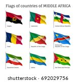 middle africa countries flag... | Shutterstock .eps vector #692029756