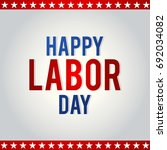 labor day card design  vector... | Shutterstock .eps vector #692034082