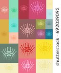 color pattern with eyes and...   Shutterstock .eps vector #692039092