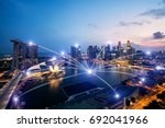 network business conection... | Shutterstock . vector #692041966