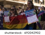 marriage equality march  ...   Shutterstock . vector #692042902