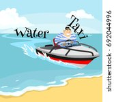 jet ski water extreme sports ... | Shutterstock .eps vector #692044996
