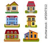 historical city modern world... | Shutterstock .eps vector #692047312