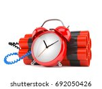 time bomb isolated on white...   Shutterstock . vector #692050426