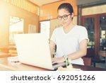 business entrepreneur asian... | Shutterstock . vector #692051266