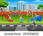 vector illustration of children ... | Shutterstock .eps vector #692058652