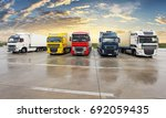 trucks   cargo transport ... | Shutterstock . vector #692059435