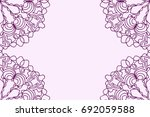 template for wedding card flyer ... | Shutterstock .eps vector #692059588