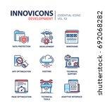 web page development   modern... | Shutterstock .eps vector #692068282