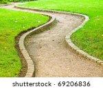 Winding Path In Botanical Garden