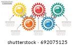 infographic arrow design... | Shutterstock .eps vector #692075125