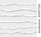 set torn paper vector  layered. ... | Shutterstock .eps vector #692077102