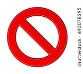 red blank ban sign vector | Shutterstock .eps vector #692078395