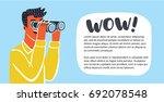 vector horizontal banner with... | Shutterstock .eps vector #692078548