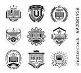 simple mono lines logos... | Shutterstock .eps vector #692081926