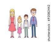 vector school day family... | Shutterstock .eps vector #692082442