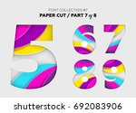 carved paper art  font design.... | Shutterstock .eps vector #692083906