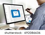 mail communication connection...   Shutterstock . vector #692086636