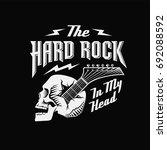 skull guitar  hard rock in my... | Shutterstock .eps vector #692088592