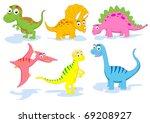dinosaur vector set | Shutterstock .eps vector #69208927