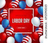 labor day sale promotion... | Shutterstock .eps vector #692090035