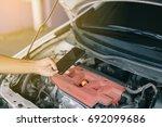 auto mechanic repair engine in...   Shutterstock . vector #692099686