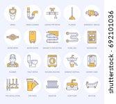 plumbing service vector flat... | Shutterstock .eps vector #692101036