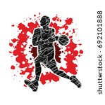 basketball player running... | Shutterstock .eps vector #692101888