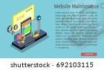 isomatric website maintenance ... | Shutterstock .eps vector #692103115