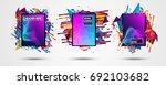 futuristic frame art design... | Shutterstock . vector #692103682
