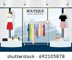modern clothing store interior... | Shutterstock .eps vector #692105878