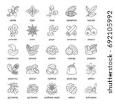 spices linear icons set.... | Shutterstock .eps vector #692105992