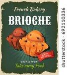 retro brioche poster ... | Shutterstock .eps vector #692110336